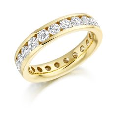 ET 217 is a beautiful eternity ring made of beautiful round brilliant cut diamonds stunningly channel set in yellow gold. also in platinum and white gold Bangles, Bracelets, Rose Buds, Round Diamonds, White Gold, Eternity Rings, Rose Gold, Yellow, Dublin