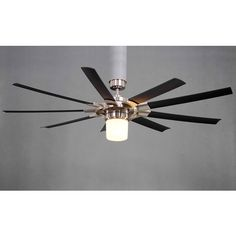 Harbor Breeze 52 In Chrome Ceiling Fan With Light Kit And