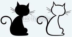 Vecteur : Black cat silhouette