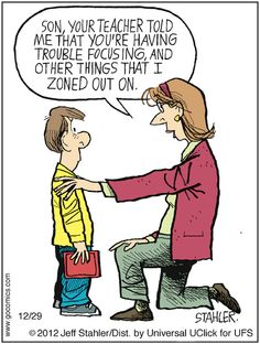 Seriously- why do they send two page emails? My kids are perfect! :/ Moderately Confused by Jeff Stahler