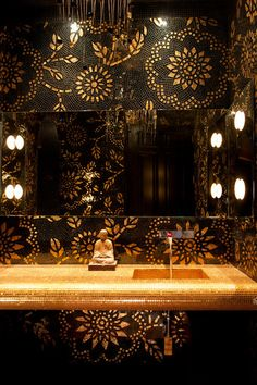 Love this- Asian Powder Room by Toro-Lombardo Design Build