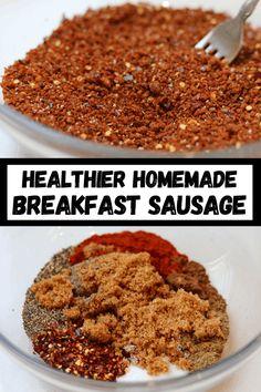 Breakfast Sausage Seasoning, Sausage Spices, Turkey Breakfast Sausage, Homemade Breakfast Sausage, Sausage Gravy, Chicken Breakfast Recipes, Breakfast Sausages, Vegan Breakfast, Breakfast Ideas