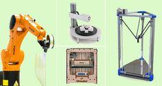 Tipos de impresoras 3D FDM: Delta, Cartesiana, Polar y Brazo robótico