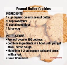 90 second bread in order to make this scd friendly omit baking powder substitute with 1 8 tsp baking soda and 1 4 tsp vinegar or lemon juice adjust cook time to 2 minutes – Artofit Keto peanut butter c Keto peanut butter cookies Read the comments for i Keto Cookies, Keto Peanut Butter Cookies, Chip Cookies, Low Carb Keto, Low Carb Recipes, Diet Recipes, Keto Fat, Recipies, Ketogenic Recipes