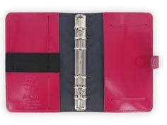 Amazon.com : Filofax The Original Leather Personal Patent Fuchsia Organizer Agenda Diary Calendar 022432 with Free Jot Pad refill : Office Products