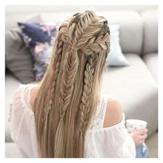 Instagram photo by Nina Starck | Hairstyles • Mar 22, 2016 at 6:48pm... ❤ liked on Polyvore featuring hair