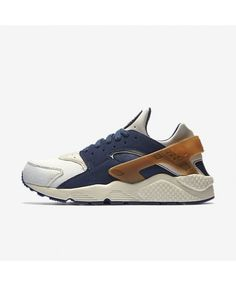 reputable site 4d640 f15bc Nike Air Huarache Premium Sail Mid Navy Ale Brown Pearl Pink Trainers