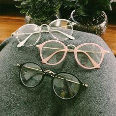 "Harajuku vintage transparent glasses SE10187 Use coupon code ""SOPHIA"" for 10% off at https://www.sanrense.com/"