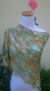 Ravelry: Random Monet Shawlette pattern by Pam Jemelian FREE for a limited period