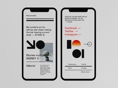 Agency - Typography App Concept by Tomasz Mazurczak on Dribbble Mobile Logo, Mobile App, Typography App, Directory Design, New Mode, App Design Inspiration, Mobile Ui Design, Social Media Design, Branding Design