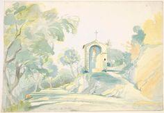 Near Tivoli, Georg Friedrich August Lucas, German, 1803-1863