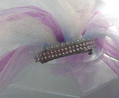 bachelorette veil, bachelorette party veil, bridal shower veil,  shower veil, veil for bride to be, shower accessory, blue, purple sparkle by SuspendedStar on Etsy
