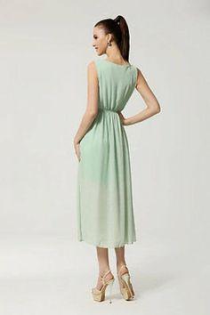 Amazon.com: Women I Sleeveless Flower Pleted Evening Dress: Clothing