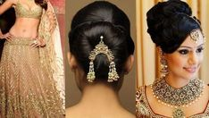 Hair style with saree for wedding party Saree Hairstyles, Braided Bun Hairstyles, Latest Hairstyles, Girl Hairstyles, Bridal Makeup Videos, Wedding Makeup, Lehenga Style Saree, Lehenga Dupatta, New Fashion