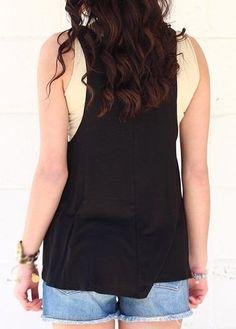 WEBNODE :: Sleeveless Round Neck Letter Print Black Top :: Fashionerly Black Tops, Lettering, Women, Fashion, Spring Fashion, Spring Summer, Chic, Moda, Women's