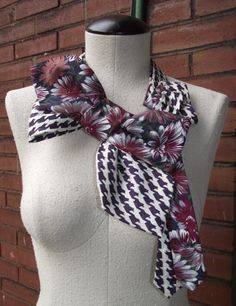Prudence Bow Handstitched Upcycled Necktie by BuffaloBlueDesigns, $48.00