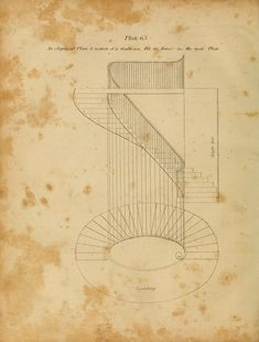 The carpenter's new guide: 1901 - an elliptical staircase Architecture Drawing Plan, Stairs Architecture, Classical Architecture, Interior Architecture, Interior Design, Bedroom Drawing, Carpentry And Joinery, Stair Railing Design, Building Stairs