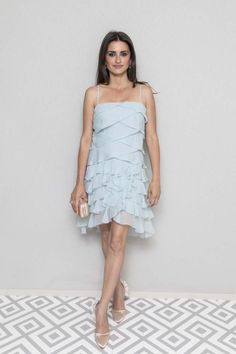 Penelope Cruz Photos - Penelope Cruz attends at Albane by Costes, JW Marriott Rooftop on May 2018 in Cannes, France. - Chanel And The Vanity Fair France Party At The Cannes Film Festival Roger Vivier, Ashlee Simpson, Vanity Fair, Ruffle Dress, Strapless Dress, Ruffles, Beaded Gown, Red Carpet Looks, Flats