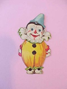Adorable Little Art Deco Era Clown with by Moonmaidenemporium, $8.00