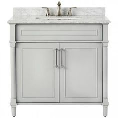 "Aberdeen 36"" Single Vanity Dove Gray (very nice pale gray)"