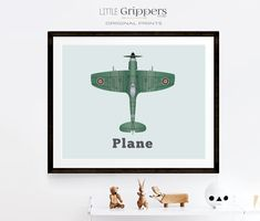 Aeroplane wall art, Spitfire decor, Printable home decor, Toddler boys room, Aviation decor, Transportation prints, Airplane art Airplane Wall Art, Car Wall Art, Art Wall Kids, Aviation Decor, Vintage Nursery, Online Printing Services, Nursery Prints, Kids Decor, Printable Wall Art
