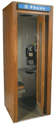 1940s phone booth | Lot Detail - 1940s-1950s Chicago Union Station Telephone Booth