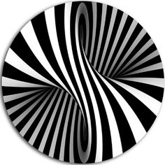 Design Art Designart 'Black and White Spiral' Abstract Throw Pillow - 20 Round Tatoo 3d, Circle Metal Wall Art, Illusion Art, Metal Artwork, Op Art, Optical Illusions, Home Design, Metal Walls, Designer