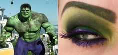 just saw the avengers..liked the movie and am now seriously digging the hulk inspired eye. who knew a green eyebrow could be sexy?!