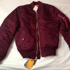 Winter Fashion Burgundy Bomber Jacket Style Trend