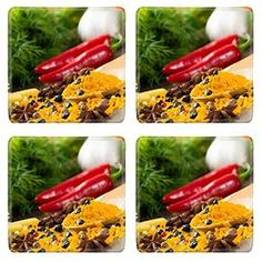 MSD Square Coasters Image ID 23526264 chilli herbs and spices lie on a wooden surface still life * Learn more by visiting the image link.(It is Amazon affiliate link) #my