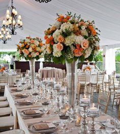 Yüksek vazolar & yüksek çiçek dekorları