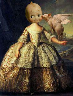 """Kewpig kisses"" Collage by BiekB"
