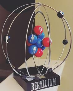 Nailed it! Way to go Jack ❤️ Atom model (Beryllium) Slime Science Fair Project, 7th Grade Science Projects, Science Project Models, Chemistry Projects, Science Lessons, School Projects, Chemistry Classroom, Teaching Chemistry, Atom Model Project