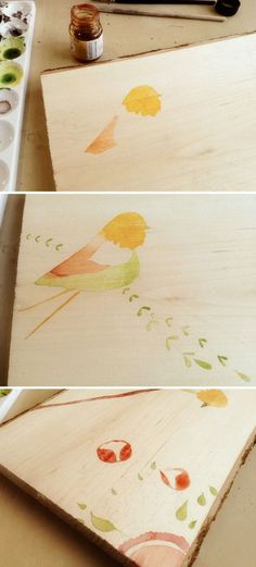 How to paint watercolor on wood. I'm very interested in working on wood panel for my next project, so I found this interesting.