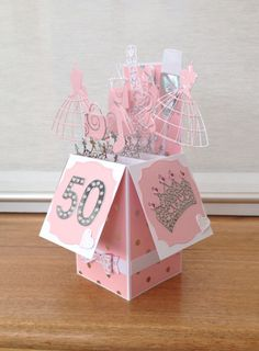 Pop Up box card made using a selection of Memory Box dies.
