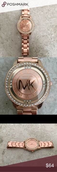 Michael Kors Rose Gold Watch Brand new, never worn, will ship same day of purchase, amazing quality, everything is functional, no box, 100% authentic Michael Kors Accessories Watches