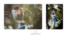 Bend, Oregon winter wedding engagement photography session.