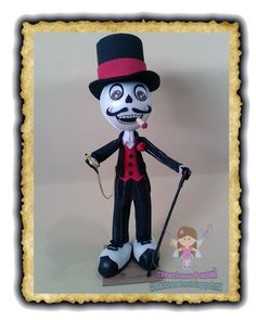 Halloween Doll, Happy Halloween, Day Of The Dead Party, Biscuit, Adornos Halloween, Pasta Flexible, Pumpkin Decorating, Art For Kids, Minnie Mouse