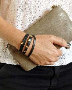 Warp vegan black bracelet