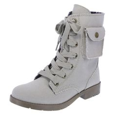 Canvas Lace-Up Boot. This would be great to customize with paint, patches, or both! :)