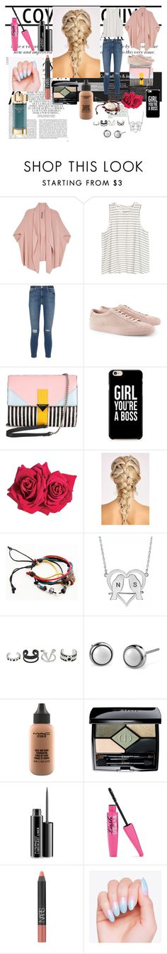 """Legally blonde."" by it-srabina ❤ liked on Polyvore featuring Whiteley, Melissa McCarthy Seven7, H&M, Frame Denim, Common Projects, Iceberg, Avon, Alison & Ivy, MAC Cosmetics and Christian Dior"