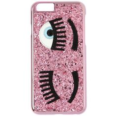 CHIARA FERRAGNI Flirting Glitter Iphone 6 Case ($42) ❤ liked on Polyvore featuring accessories, tech accessories, pink ve chiara ferragni