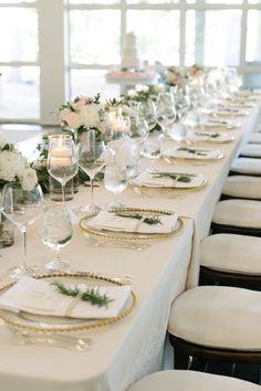 Wedding reception - Head table Wedding Reception, Bliss, Wedding Planner, Table Settings, Weddings, Simple, Instagram Posts, Amp, English