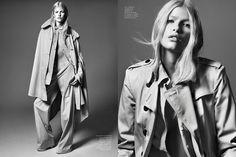 Louise Parker shot by Jason Kibbler   Vogue Espana   February 2014   Trench Topic
