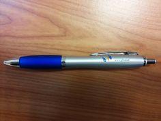 """Over de Balpen Cardiff: """"een hele fijne pen en ons logo is mooi en duidelijk leesbaar, daarnaast ligt de pen goed in de hand en schrijft soepel!"""""""