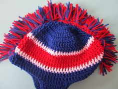 Simply Crochet and Other Crafts: Mohawk Hat With Earflaps!