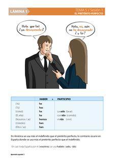¿Eres profe de español y quieres material listo para dar tus clases? ¿Hablas español y quieres enseñar?  Sesión 1: El pretérito perfecto. Sesión 2: Estar + gerundio con pretérito perfecto.  Sesión 3: El indefinido regular: hablar, correr vestirse.  Sesión 4: Indefinido irregular: ir, tener, hacer.  Sesión 5: Usos del indefinido. Sesión 6: Contraste entre pretérito perfecto y pretérito indefinido.  Sesión 7: La impersonalizad con se.