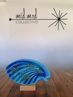 MCM drip glaze ceramic ashtray. Available now at Mid Mod Collective. Email midmodcollective@gmail.com for more info.