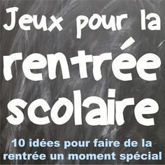 French Back-to-school Games: jeux pour la rentrée scolaire Classroom Games High School, High School Activities, School Games, First Week Of School Ideas, Beginning Of School, French Teaching Resources, Teaching French, Science Resources, High School French