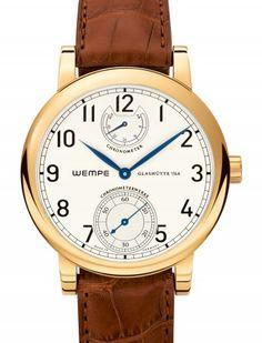 Wempe | Wempe Chronometerwerke Glashütte I/SA Gangreserve | Yellow Gold | Watch database watchtime.com